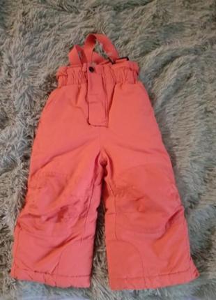 Зимние штаны на морозы теплый полукомбинезон