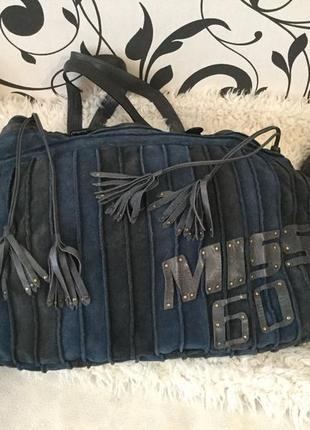 Мега-крутая и стильная сумка шоппер знаменитого итальянского бренда miss sixty 💄❤️💋