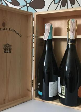 Деревянный ящик для вина для двух бутылок