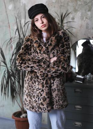 Шуба леопардовая bershka