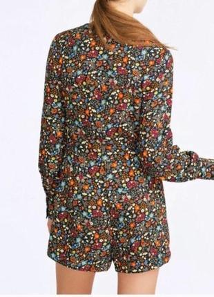 Крутой комбинезон/ромпер с карманами в цветочный принт zara