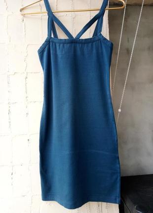 Распродажа! цена снижена на 100гр зеленое облягающее платье/сарафан миди от pink woman