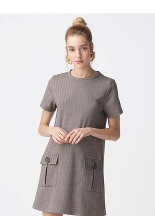 Коричневое платье dilvin