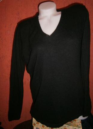 Длинный уютный свободный пуловер кашемир шерсть длинный рукав на высокую девушку