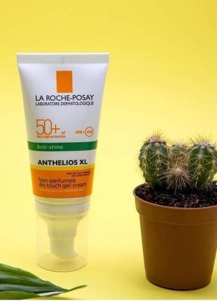 Гель-крем для лица la roche-posay anthelios xl nti-brillance spf 50+, 40 мл