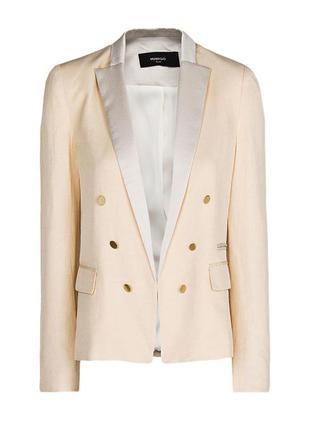 Пудровый пиджак жакет от mango xs-s