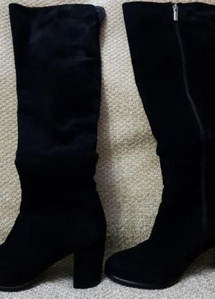 Зимние сапоги натуральная замша