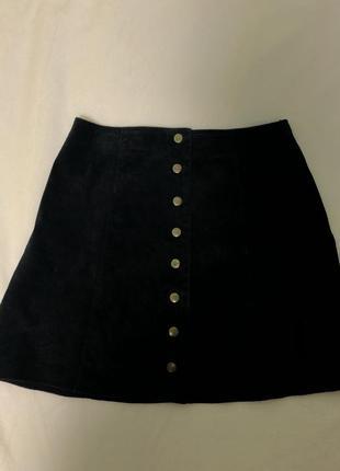 Юбка чёрная с завышенной талией kiabi