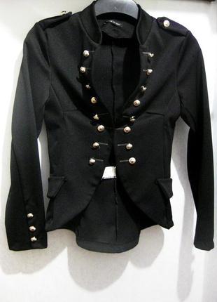 Пиджак жакет блейзер made in italy стиль balmain чёрный