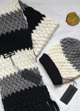 Комплект шапка+шарф denis simachev.