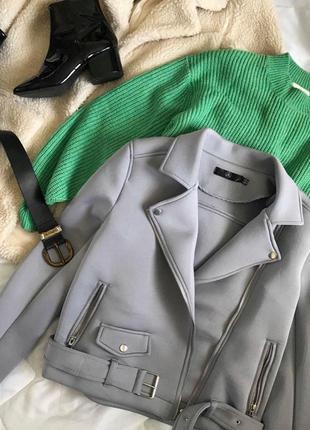 Лиловая фиолетовая сиреневая косуха кожанка дубленка куртка  missguided лілова фіолетова