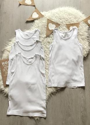 Набор белых маек 9-10 лет
