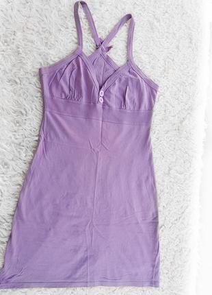 Платье-майка нежного лавандового цвета terranova