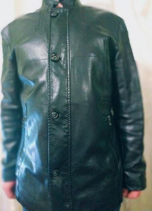 Куртка пиджак кожаный 50/52р (осень-весна)