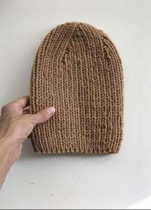 Вязаная шапочка бини