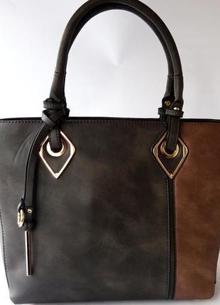 Элегантная женская сумочка из прессованной кожи под нубук