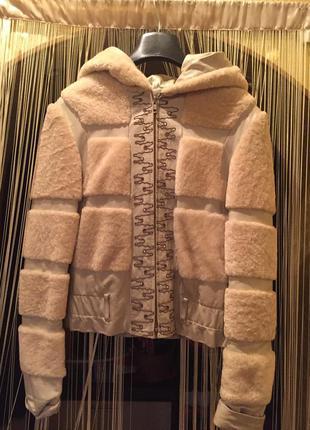Кожаная куртка с мехом!!!