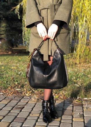 Сумка женская с коричневой ручкой s00-0868