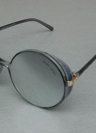 Jimmy choo очки женские солнцезащитные круглые зеркальные серые