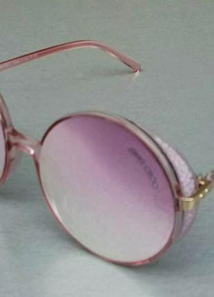 Jimmy choo очки женские солнцезащитные круглые розовые зеркальные