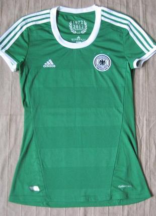 Adidas deutscher fussball-bund (s) футбольная футболка женская