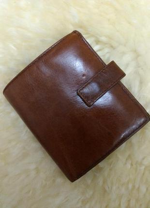 Качественный мужской кожаный кошелек портмане ravel