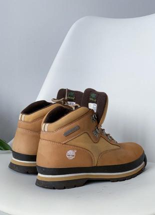 Коричневі ботінки/черевики timberland