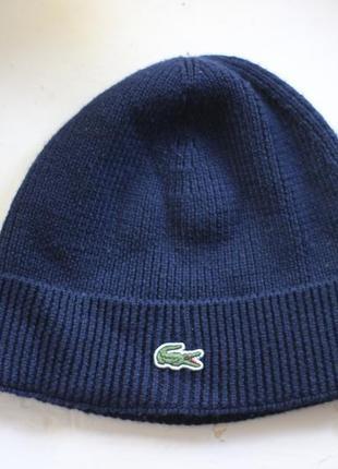 Шерстяная шапка lacoste оригинал