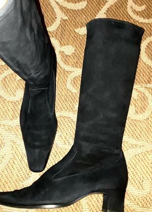 Замшеві чоботи чулки крутого бренду
