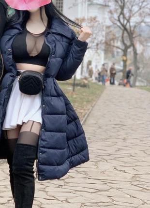 Классное расклешенное пальто юбочкой