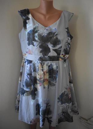 Красивое платье с принтом большого размера little mistress