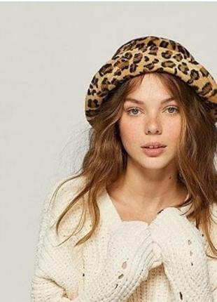 Шляпа тигровый, звериный принт