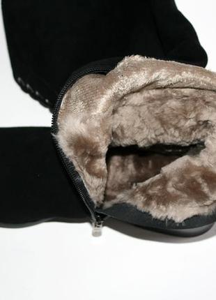 Зимние высокие сапоги respect оригинал. натуральная замша, цигейка. 36-395