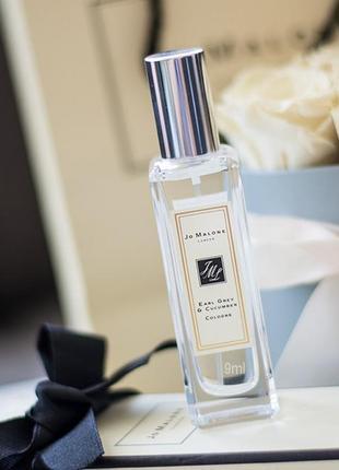 Jo malone earl grey & cucumber_original_eau de parfum 7 мл затест_парфюм.вода