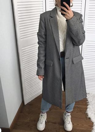 Пальто-піджак в гусячу лапку