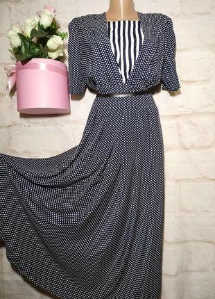 Платье миди в стиле ретро натуральное вискоза р 16 hanske