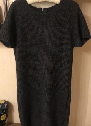 Крутое, тёплое платье marco polo. шерсть/альпака