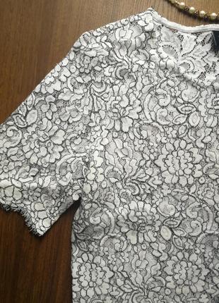 Гипюр блузка футболка нарядная белая вышивка