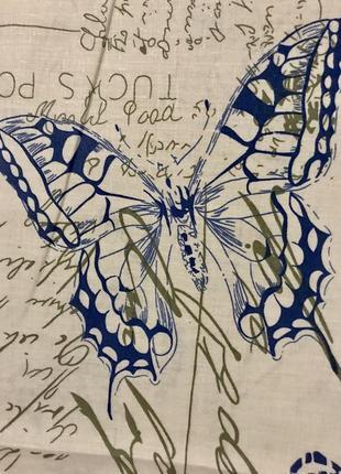 Очень красивый комплект полуторный. бабочки. бязь.