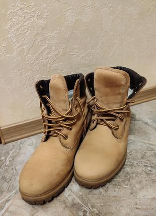 Нубуковые, замшевые ботинки на тракторной подошве 