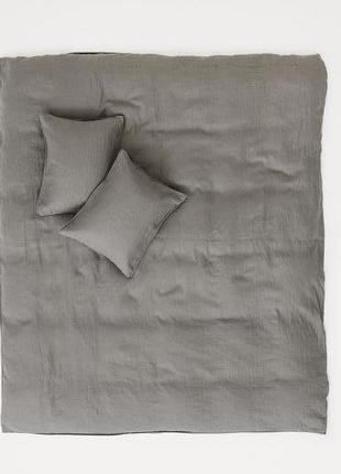 Двуспальное  постельное белье 100% лен 200х200 50х80 h&m оригинал