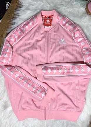Олимпийка kappa розовая с лампасами