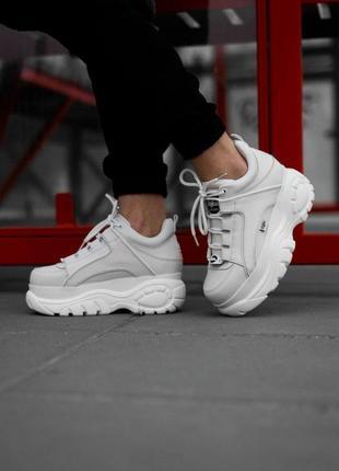 Шикарные кроссовки бафало лондон в бело цвете (осень-зима-весна)😍