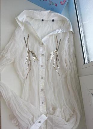 Шикарная блузка органза