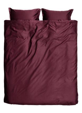 Двуспальное постельное белье атлас 200х200 80х80 h&m оригинал европа