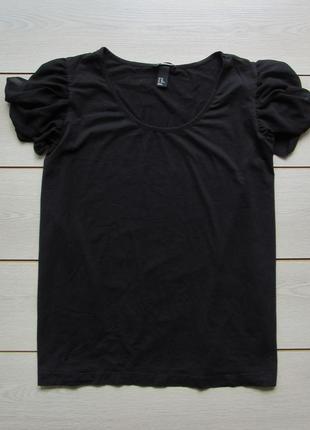 Акция на лето №102 футболка блуза хлопок с красивыми плечами большой размер от h&m