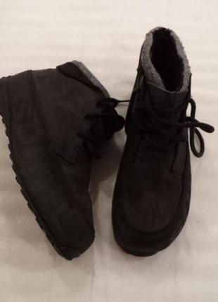 Кожа!!!очень крутые и дорогие брэндовые ботинки на широкую ногу//как новые