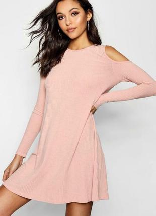 Вязаное платье, свитер  цвета нюд/ в'язана сукня, світер нюдового кольору