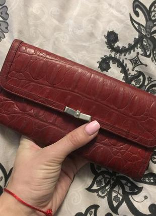 Кожаный кошелёк miu miu
