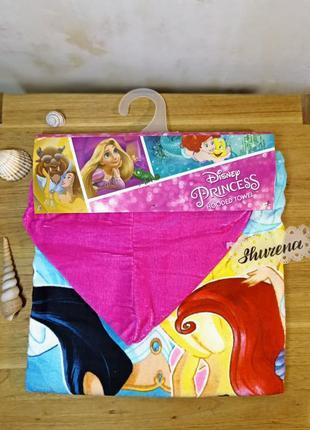 Пончо полотенце с капюшоном принцессы disney испания в подарочной уп!